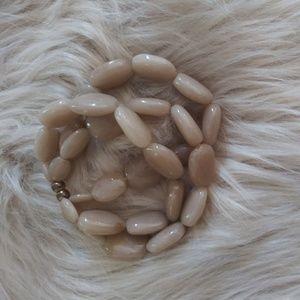 Jewelry - Triple strand polished stone-look stretch bracelet